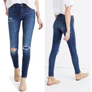 "👖 Madewell 9"" High Riser Skinny Skinny Jeans 27"